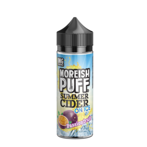 MOREISH PUFF - E-Liquid Passionfruit Summer Cider On Ice, Shortfill, 100 / 120ml, 0mg