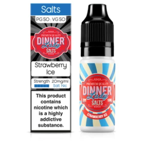 Dinnerlady - E-Liquid Strawberry Ice Salt Nic 20mg, 10ml, 20mg Salt